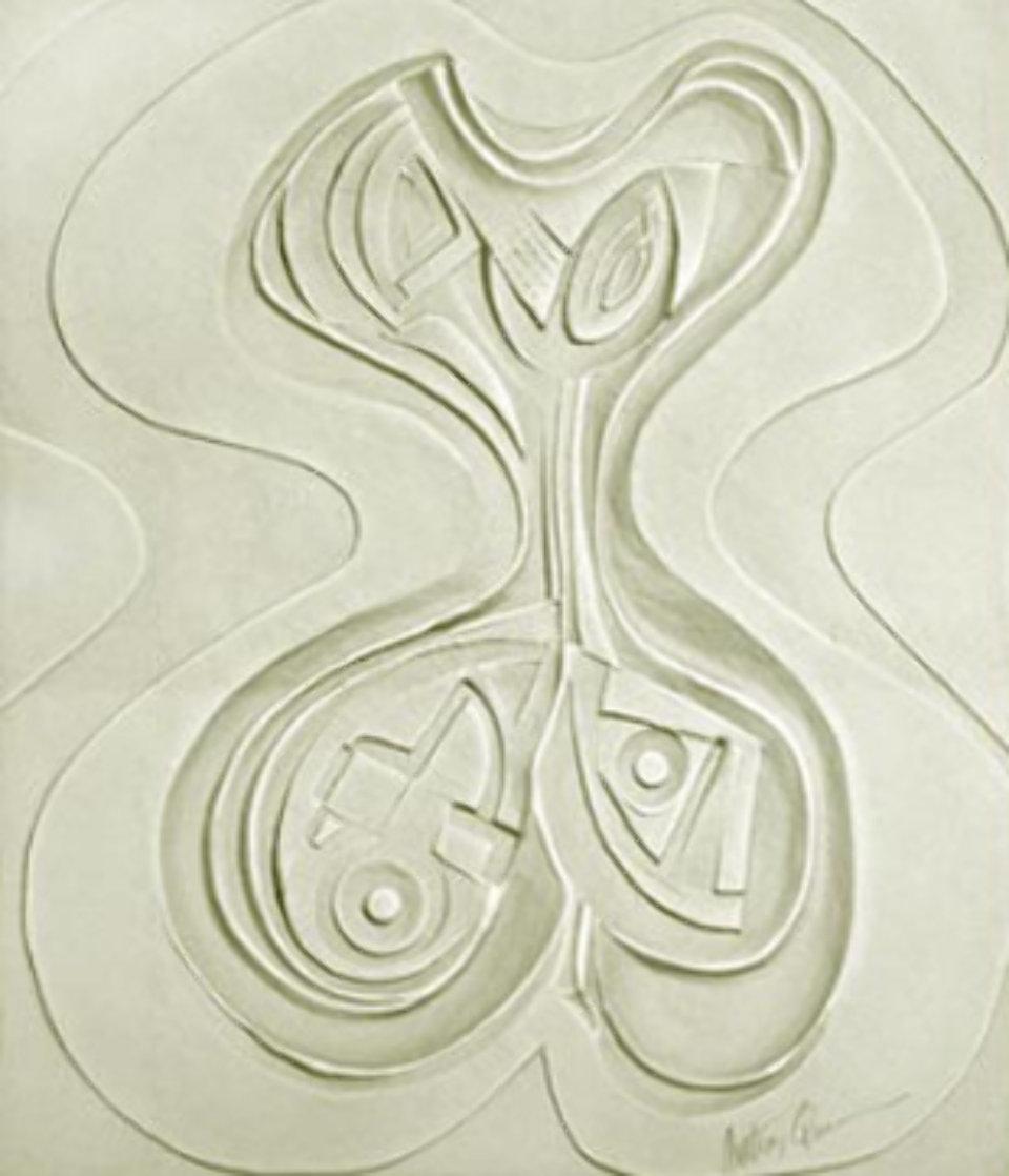 Odalisque Paper Vellum Sculpture 1987 52x45 Super Huge Sculpture by Anthony Quinn