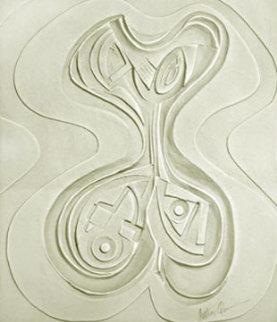 Odalisque Paper Vellum Sculpture 1987 52x45 Sculpture by Anthony Quinn