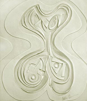 Odalisque Paper Vellum Sculpture 1987 52x45 Sculpture - Anthony Quinn