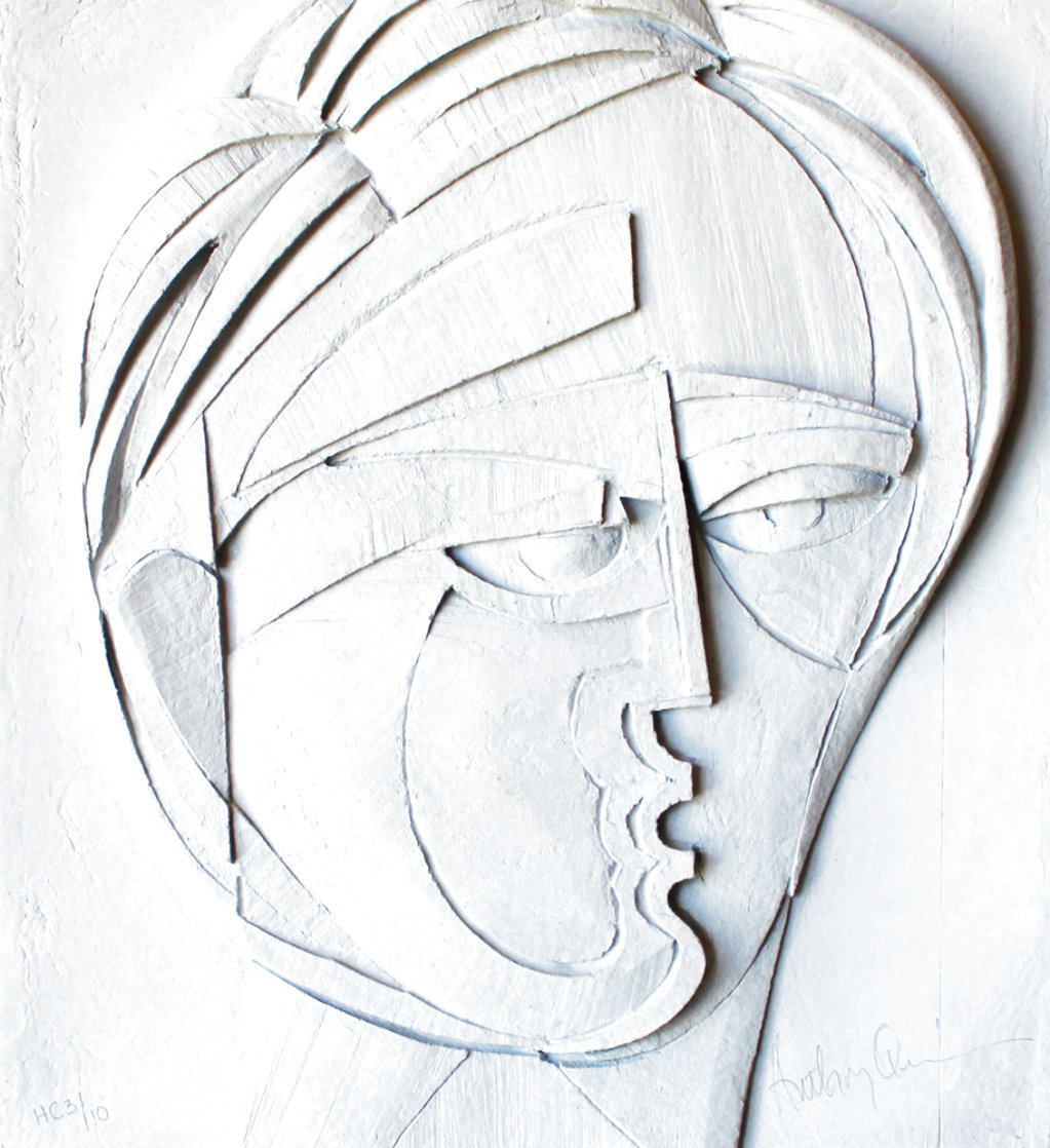 Beluchi Woman Cast Paper Sculpture 1982   Limited Edition Print by Anthony Quinn