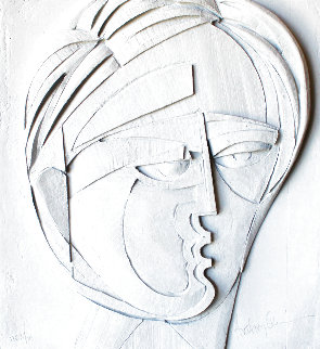 Beluchi Woman Cast Paper Sculpture 1982   Limited Edition Print - Anthony Quinn