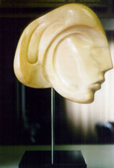 Viennese Beauty Pink Unique Marble Sculpture 1984 24 in Sculpture by Anthony Quinn