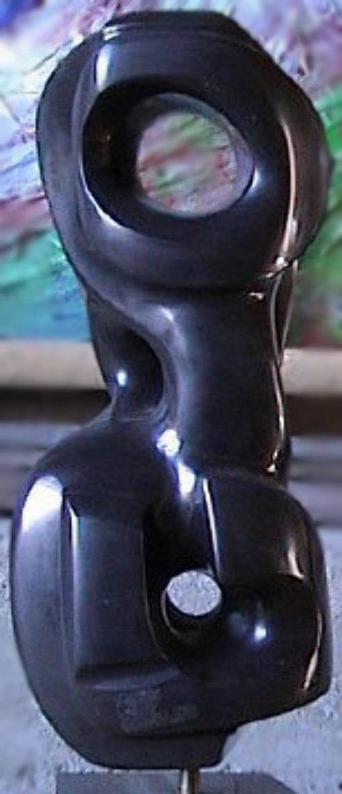 Sebah Black Unique Marble Sculpture 1978 18 in Sculpture by Anthony Quinn