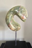 Duet Green Onyx Unique Sculpture 1980 1 in Sculpture by Anthony Quinn - 1