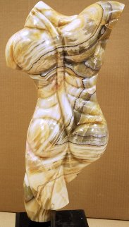 Prometheus Marble Unique Sculpture 1980 23 in Sculpture - Anthony Quinn