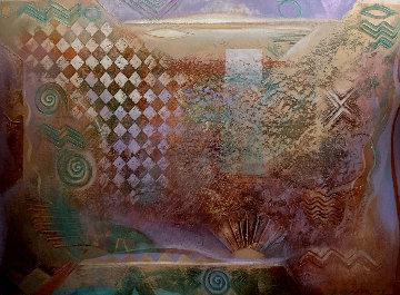 Desert Garden 1988 42x60  - Richard Quinn