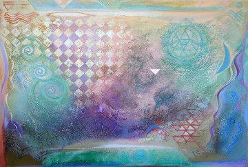 Three Spirals 1993 Original Painting - Richard Quinn