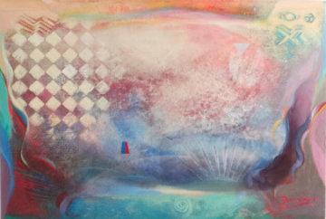 Field of Radiance 1994 30x46 Super Huge Original Painting - Richard Quinn