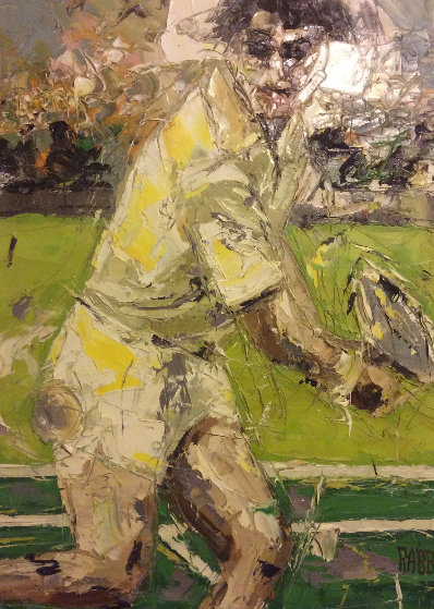 Player 1973 50x37 Original Painting by Jim Rabby