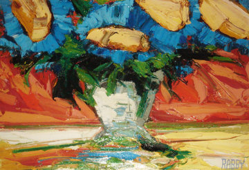 Still Life 1977 39x54 Original Painting - Jim Rabby