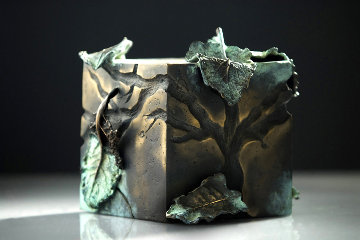 Central Park Series: Shade #6 Bronze Sculpture Unique 2006 8 in Sculpture - Semion Rabinkov
