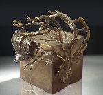 Central Park Series: Shade #8 Unique Bronze Sculpture Unique 2006 10 in Sculpture - Semion Rabinkov