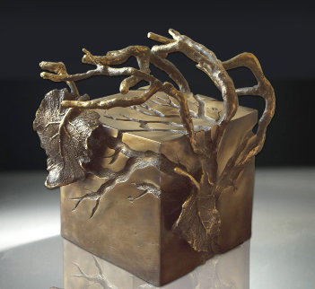 Central Park Series: Shade #8 Unique Bronze Sculpture Unique 2006 10 in Sculpture by Semion Rabinkov