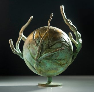 Central Park Series: Shade #4 Bronze Sculpture  Unique 2005 11 in Sculpture - Semion Rabinkov