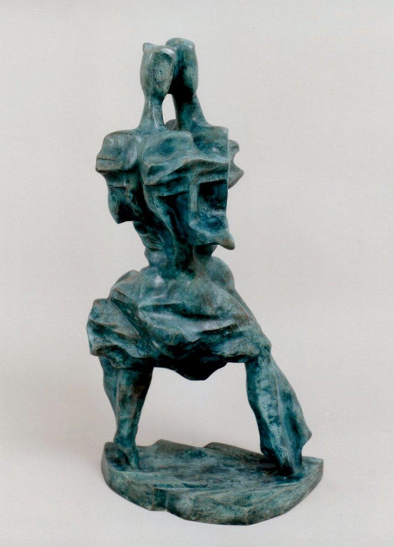 Tango Bronze Sculpture Unique 1986 20 in Sculpture by Semion Rabinkov