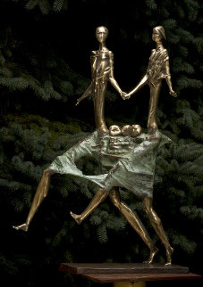 Family Bronze Sculpture 1998 32 in Sculpture - Semion Rabinkov