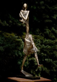 First Step Bronze Sculpture 1996  32 in Sculpture by Semion Rabinkov