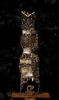 Babylon Tower Bronze Sculpture Unique 2009 32 in Sculpture - Semion Rabinkov