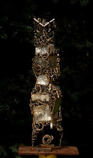 Babylon Tower Bronze Sculpture Unique 2009 32 in Sculpture - Semion Rabinkov
