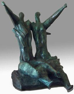 Swing Bronze Sculpture 1987 16 in  Sculpture by Semion Rabinkov