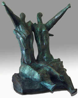 Swing Bronze Sculpture 1987 16 in  Sculpture - Semion Rabinkov