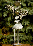 Nicka Bronze and Stainless Steel Sculpture 2008 35 in Sculpture - Semion Rabinkov