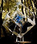 Blue Explosion (From Meteorite Series) Bronze Sculpture 2008 42x42x36 Sculpture - Semion Rabinkov