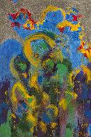 Ebullient 2008 24x18 Original Painting by Chitra Ramanathan - 0