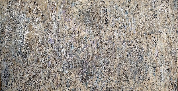 Meditation 57x107 Original Painting by Chitra Ramanathan