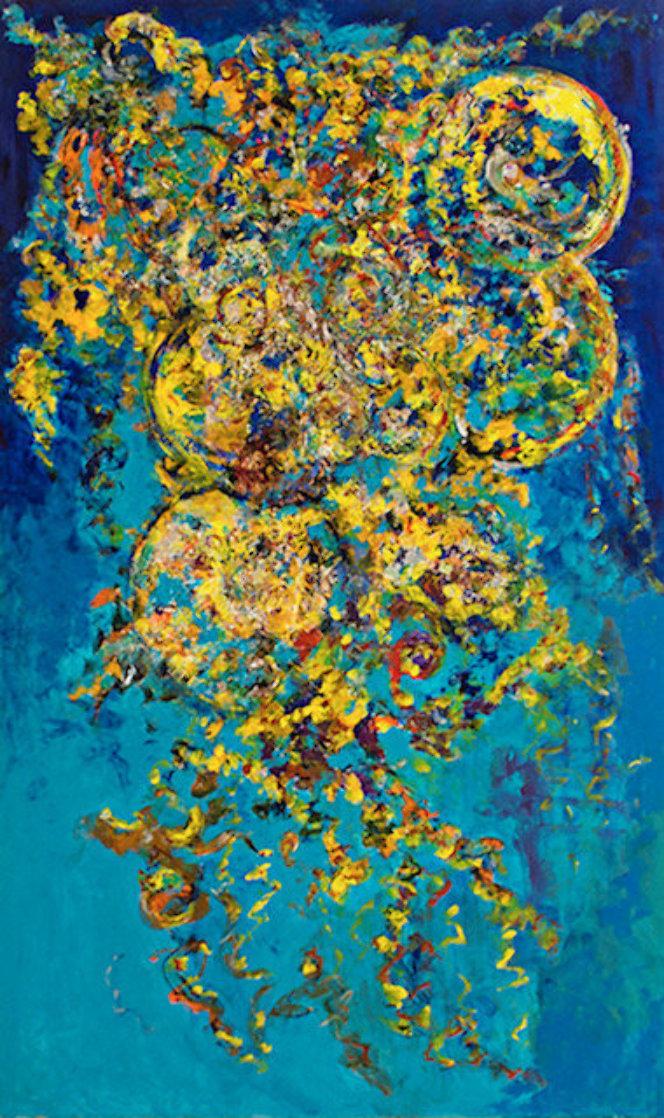Joyful Musings 60x36 Super Huge Original Painting by Chitra Ramanathan
