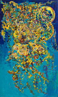 Joyful Musings 60x36 Original Painting - Chitra Ramanathan