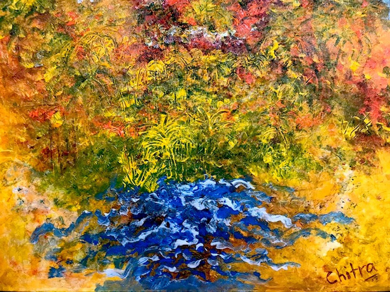 Tropical Welcome 2019 27x39 Original Painting by Chitra Ramanathan