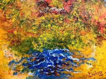 Tropical Welcome 2019 27x39 Original Painting - Chitra Ramanathan
