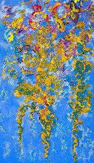Melodious Waves 60x36 Original Painting - Chitra Ramanathan