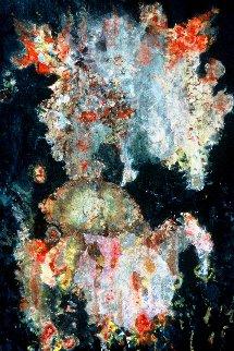 Manifestation 58x39 Original Painting - Chitra Ramanathan