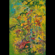 Monet's Garden, Revisited 36x24 Super Huge Original Painting by Chitra Ramanathan - 1
