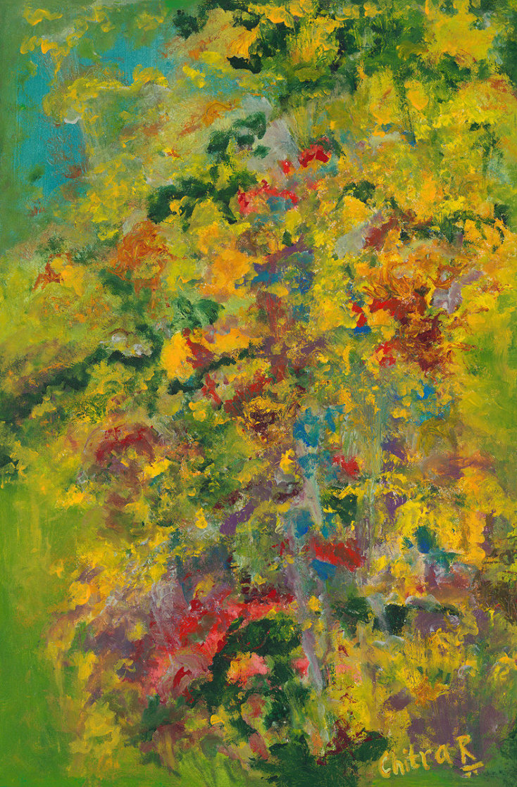 Monet's Garden, Revisited 36x24 Super Huge Original Painting by Chitra Ramanathan