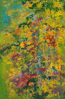 Monet's Garden, Revisited 36x24 Super Huge Original Painting by Chitra Ramanathan - 0