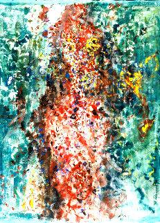 Exaltation 2013 69x53 Huge Original Painting - Chitra Ramanathan