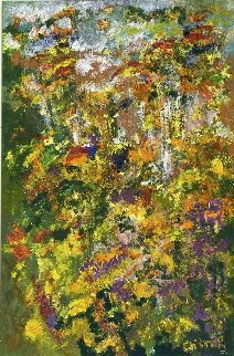 Eden 2006 36x24 Original Painting - Chitra Ramanathan