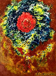 Effulgence (Brilliance) 2020 27x21 Original Painting - Chitra Ramanathan