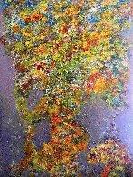 Cascading Rythms 2020 36x24 Original Painting by Chitra Ramanathan - 0