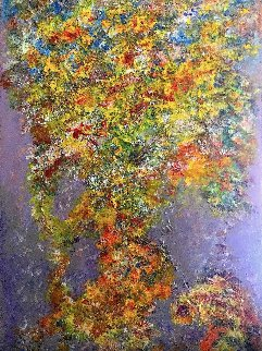 Cascading Rythms 2020 36x24 Original Painting - Chitra Ramanathan