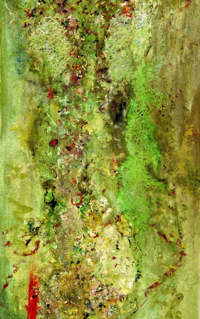 Euphoria 2020 67x39 Super Huge Original Painting by Chitra Ramanathan