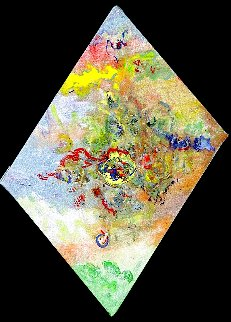 Altered Perceptions in Harmony 36x24 Original Painting - Chitra Ramanathan