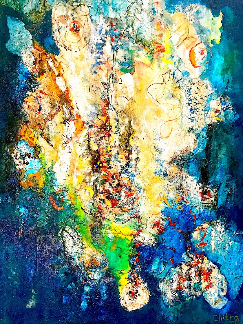 A Confluence 2020 47x37 Huge Original Painting by Chitra Ramanathan