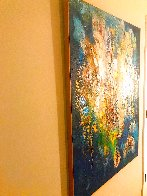 A Confluence 2020 47x37 Huge Original Painting by Chitra Ramanathan - 1
