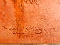 Pope Innocent X,  Velasquez 1976 47x40 Super Huge Original Painting by Ramon Santiago - 5