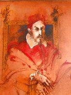 Pope Innocent X,  Velasquez 1976 47x40 Super Huge Original Painting by Ramon Santiago - 1