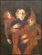 Multi-facet 1974 40x34 Original Painting by Ramon Santiago - 1